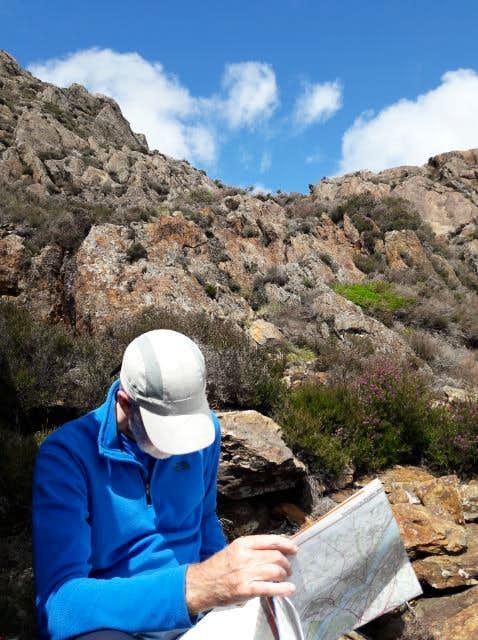 24. Ken checks our route