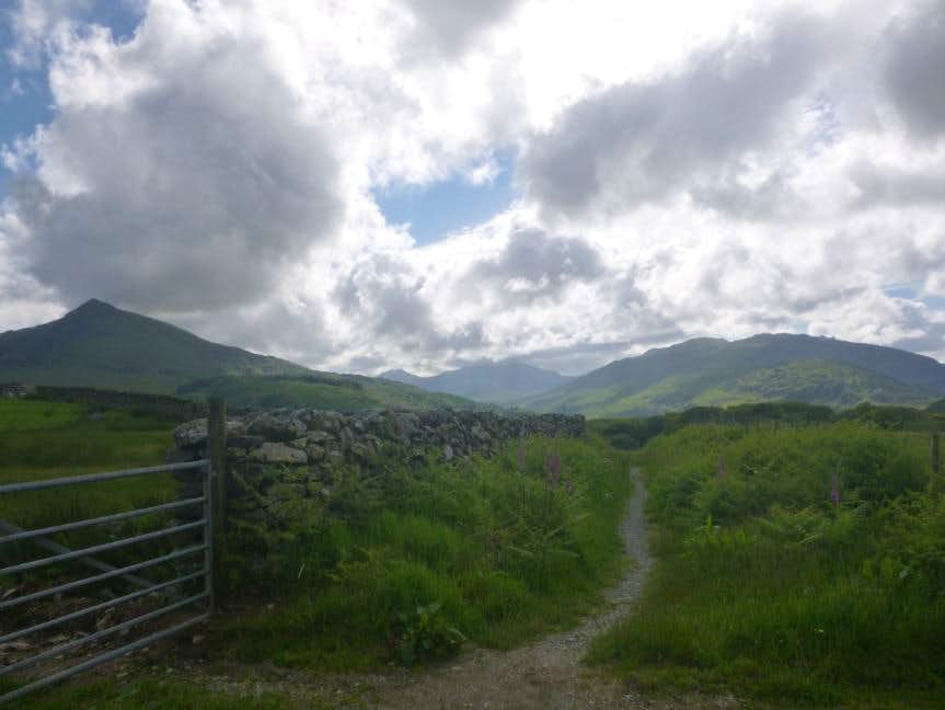 35. The Slate Trail heading to Capel Curig