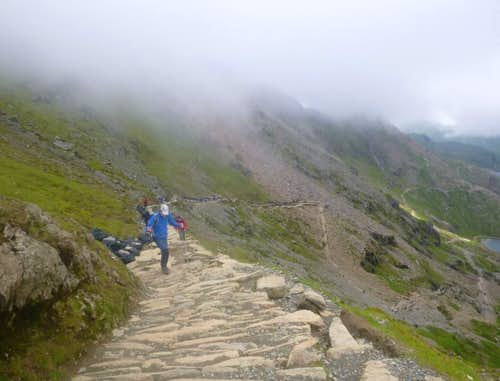 44. Steep steps near the top of the PYG track