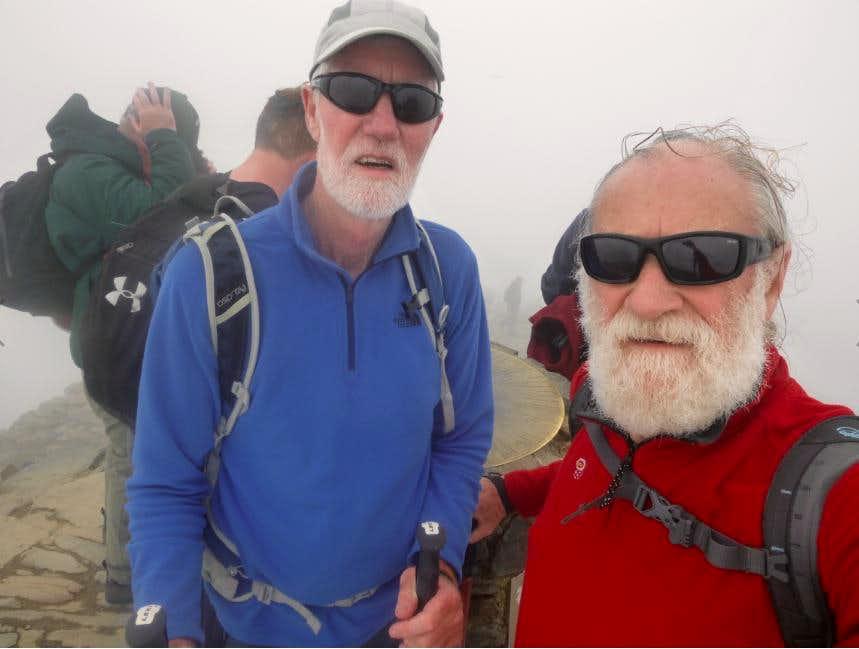 45. Ken & Johnnie at the summit