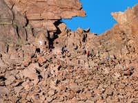 Keyhole with some climbers