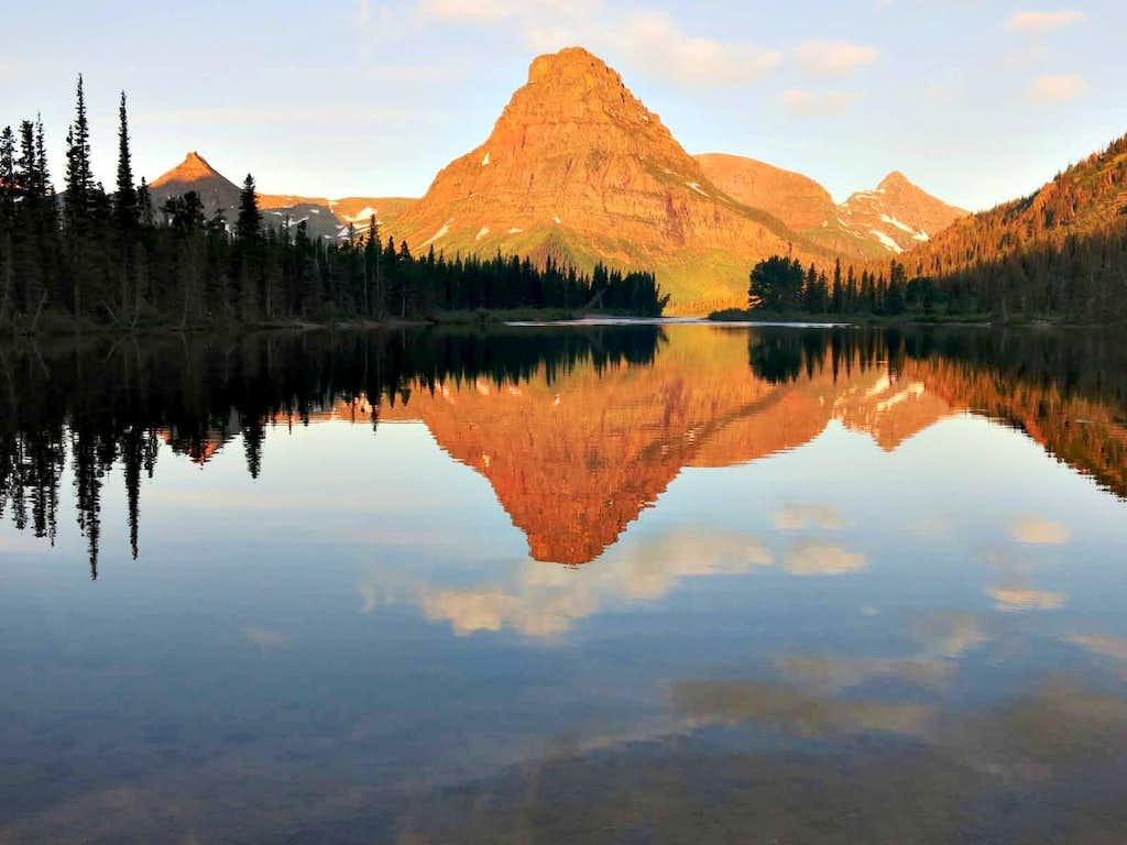 Sinopah Mountain at sunrise