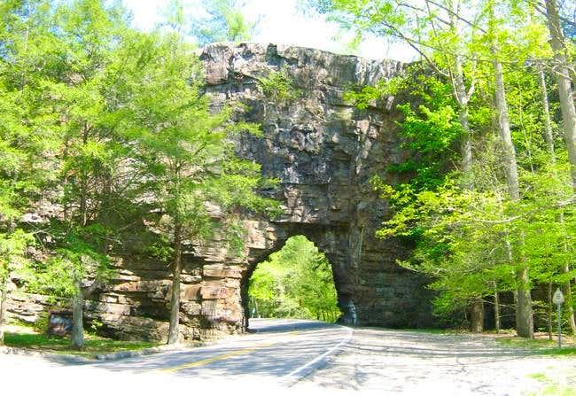 Backbone Rock as seen from TN...