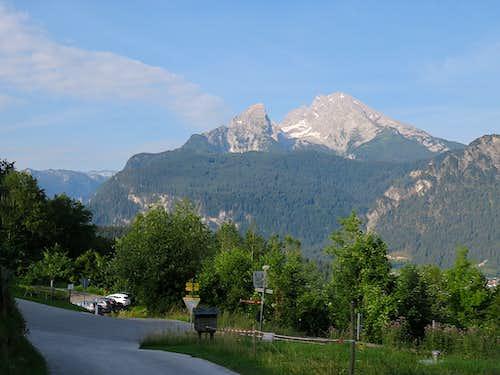 Morning view of Watzmann