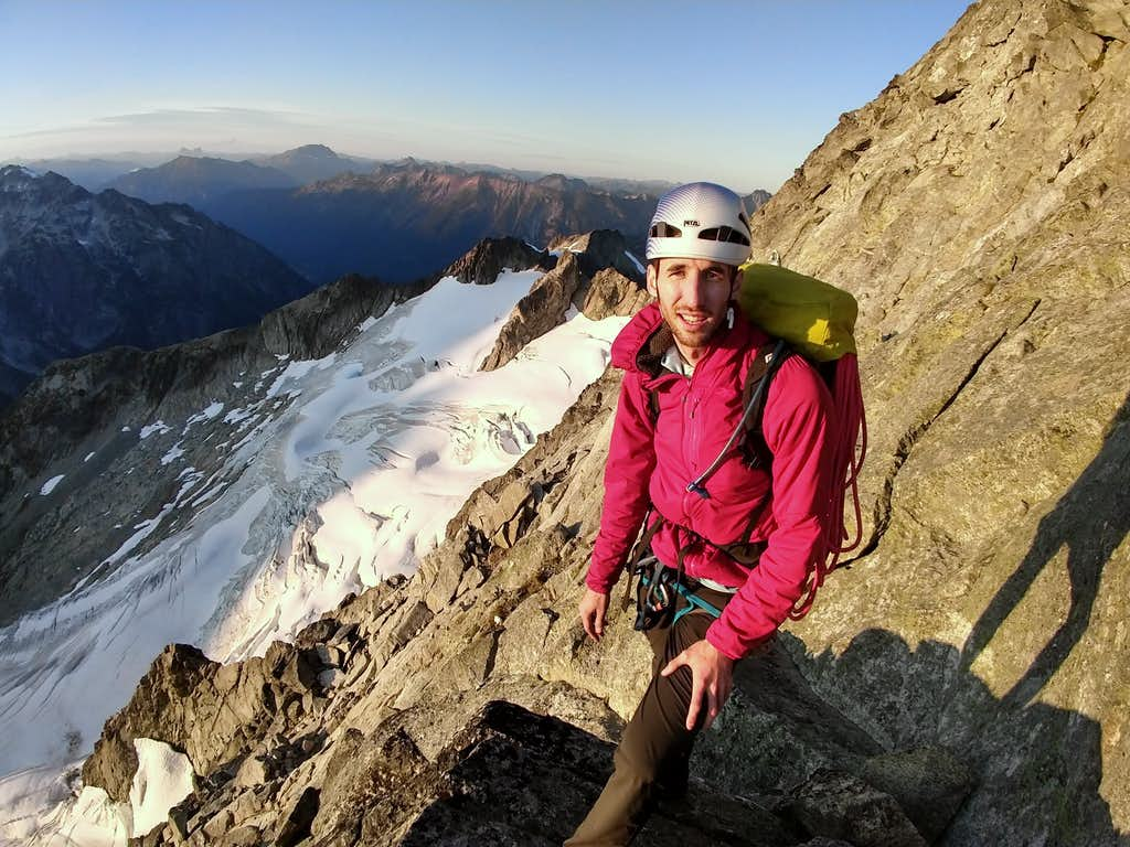 Kyle in front of NW Arete