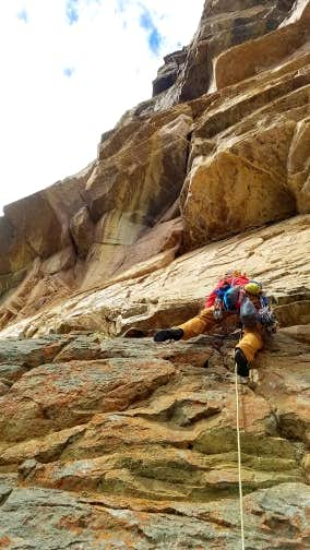 Dow leading the 1st Pitch, 5.10c