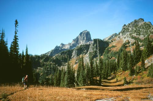 North Cowlitz Chimney from Owyhigh Lakes access trail