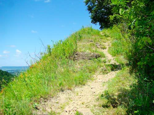Nearing the Summit of Perrot Ridge