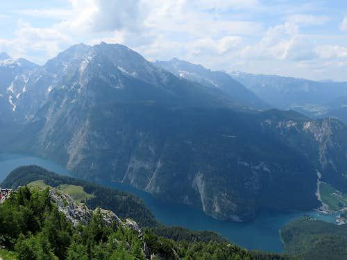 Classic view to Watzmann and Konigsee