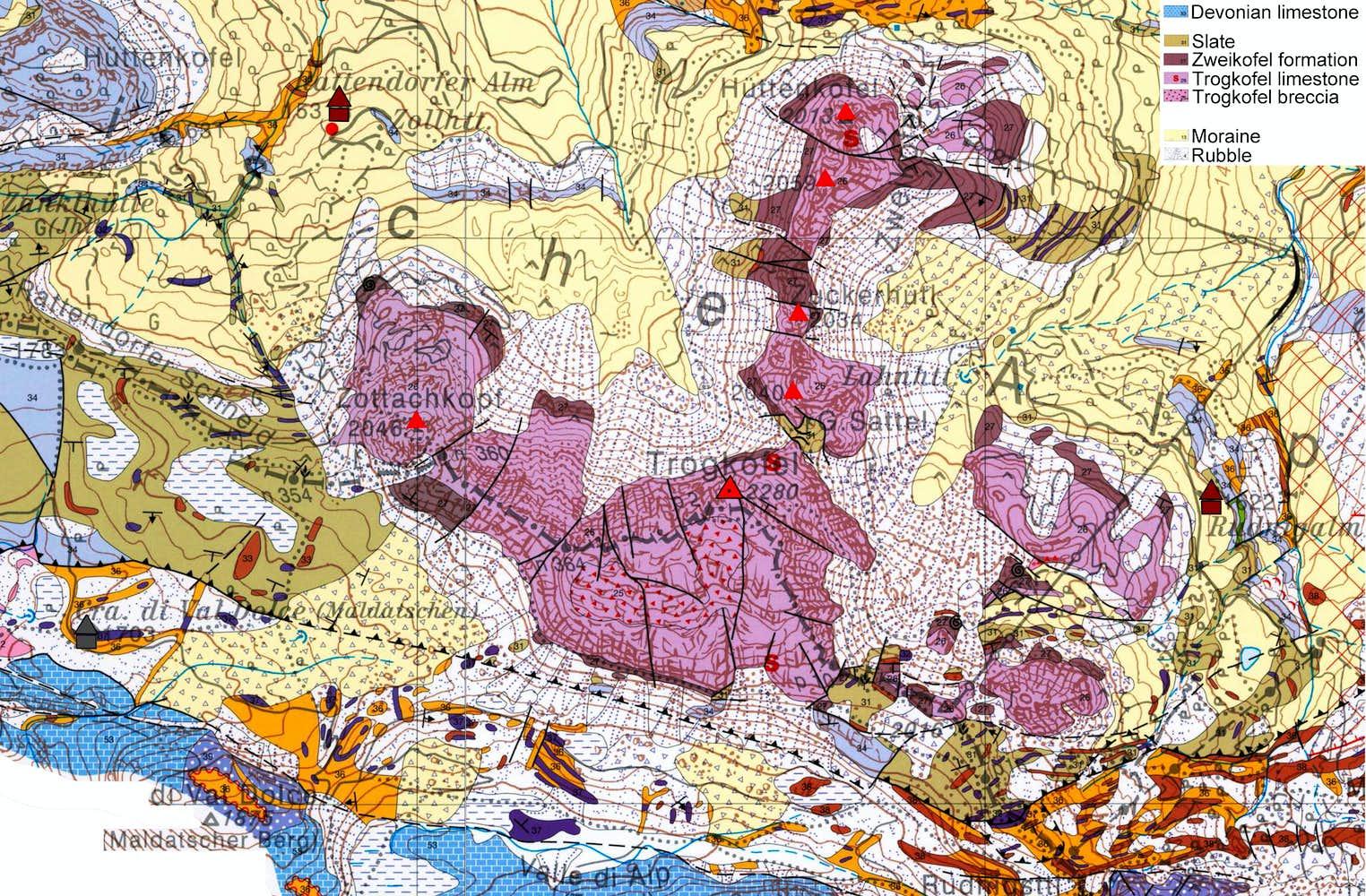 Trogkofel geology