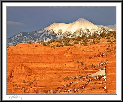 La Sal Mountain sunset, taken...