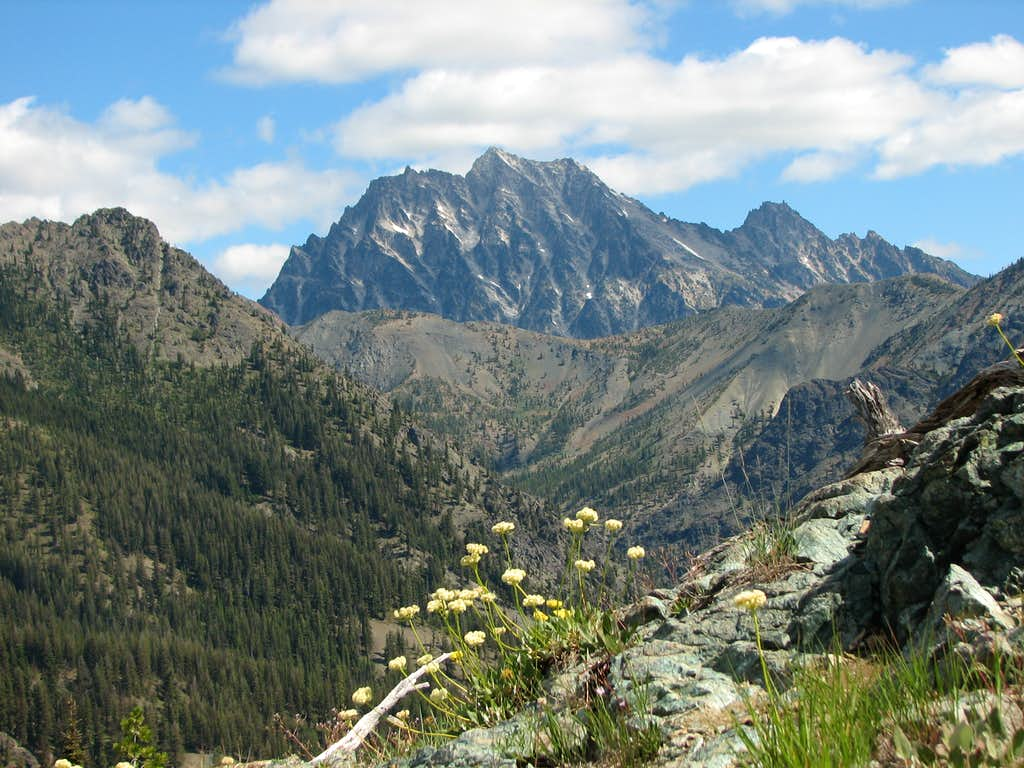 Summit view - looking over Longs Pass to Mt. Stuart