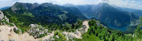 Watzmann and surroundings with Konigsee