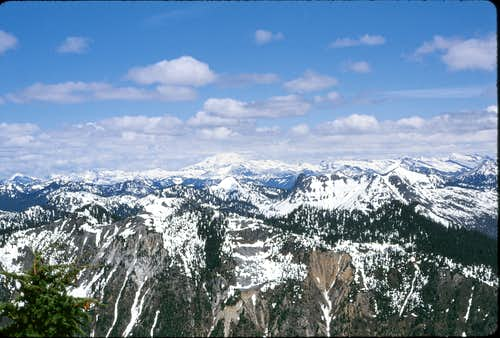 Summit photo, looking toward Glacier Peak