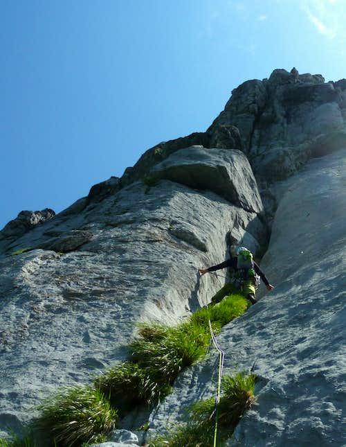 Start of the route Maestri, Torre Francesca