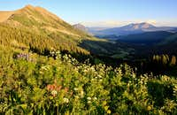 Evening view toward Crested Butte