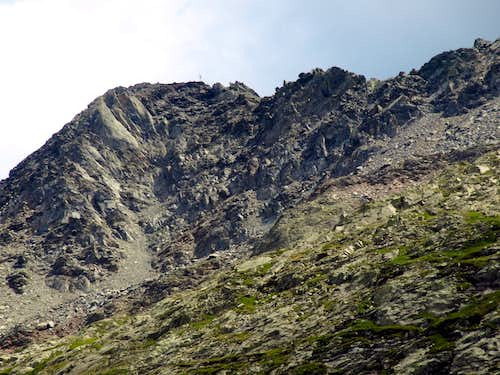 A burning & scorching summer Mont Mort NW Face former in ice