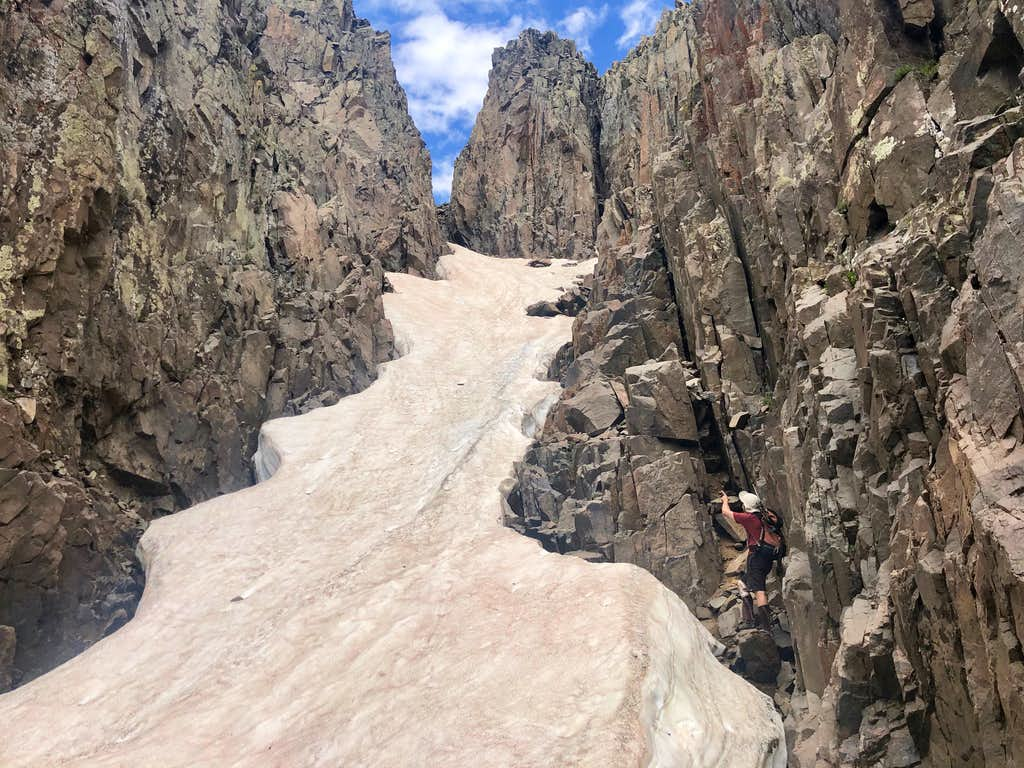 Couloir between Middle and West Babcock