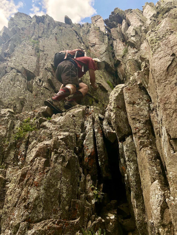 Terrain up Babcock Peak