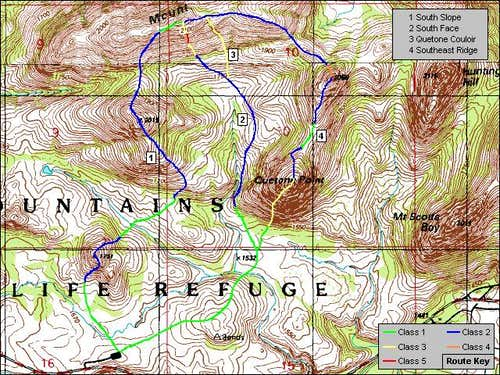 Mt. Wall's South Side Routes