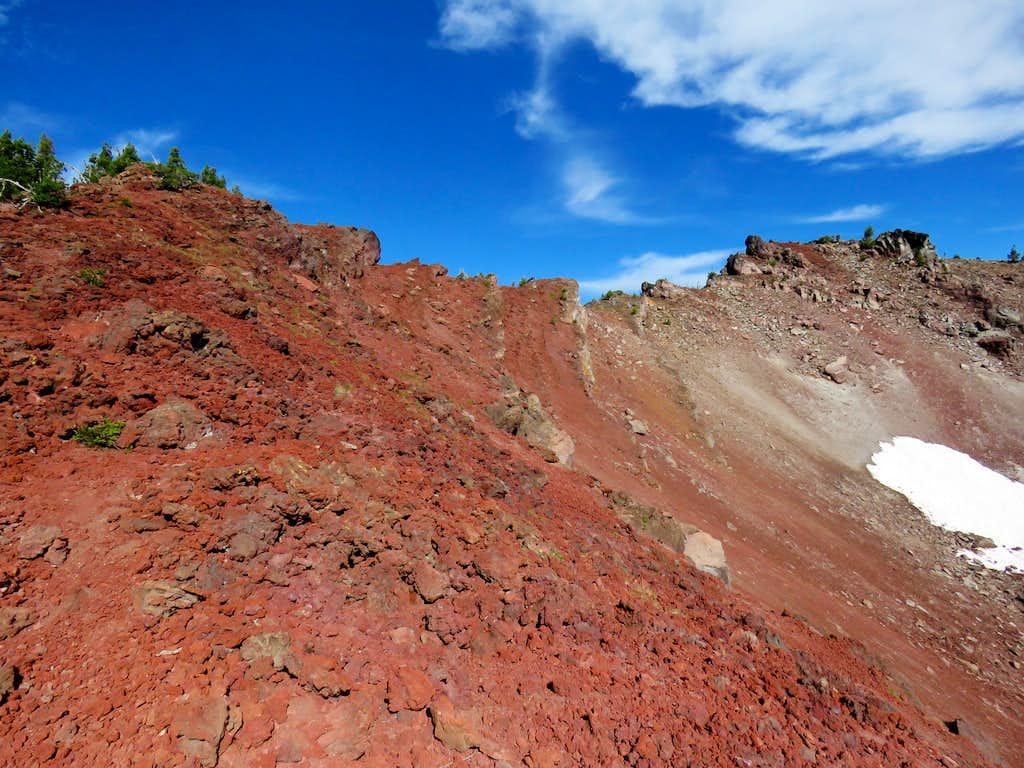 Southern ridgeline of Ball Butte