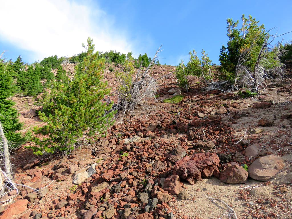Scree slopes of Ball Butte
