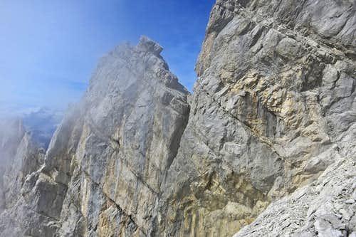 The ridge crest