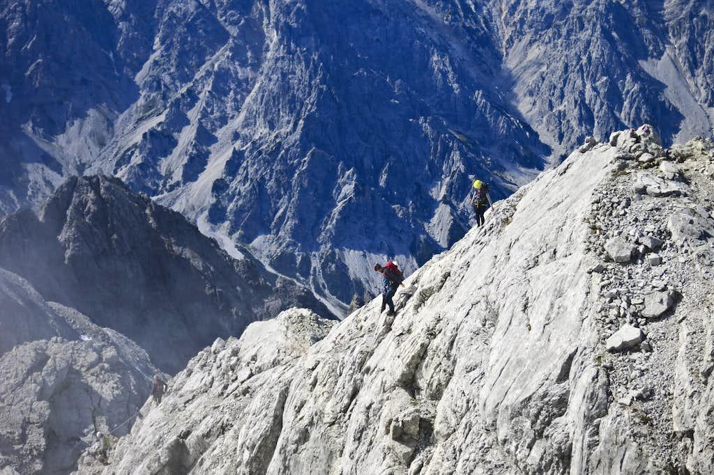 People descending