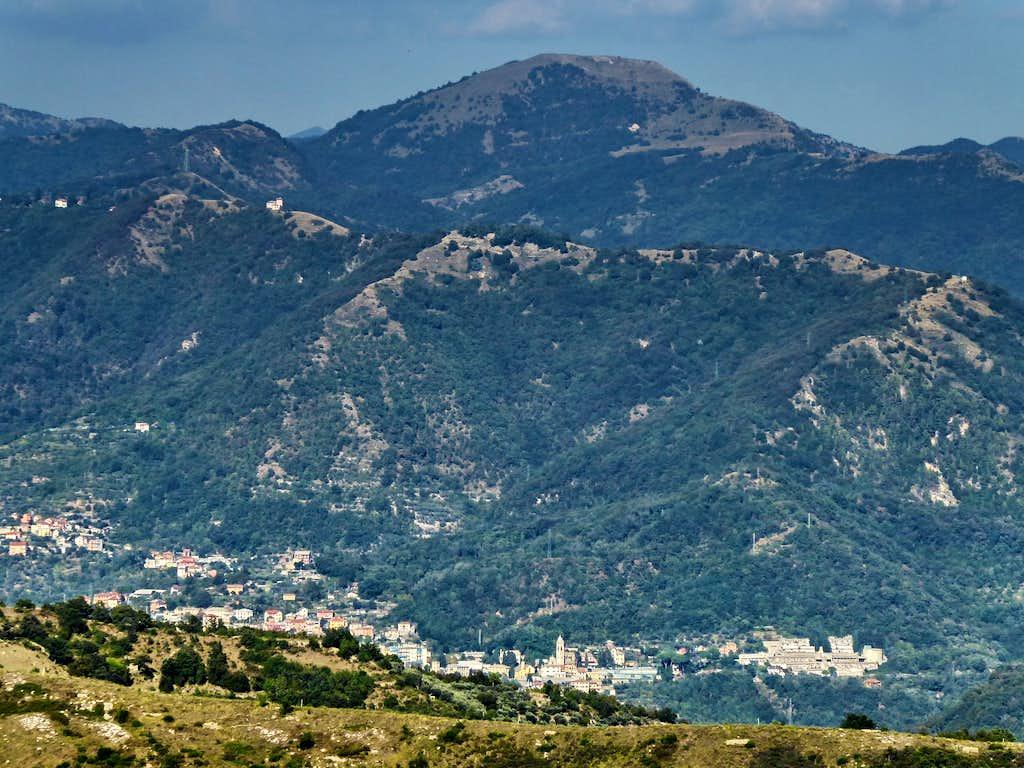 Monte Alpesisa from the uplands of Genova