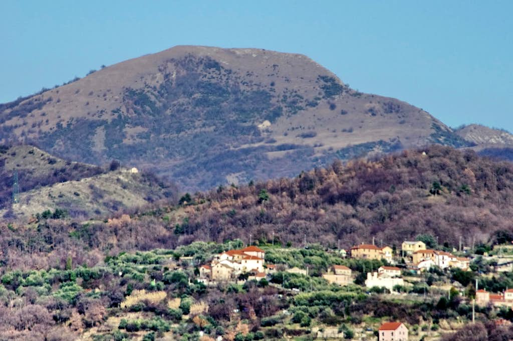 Monte Alpesisa from Val Bisagno
