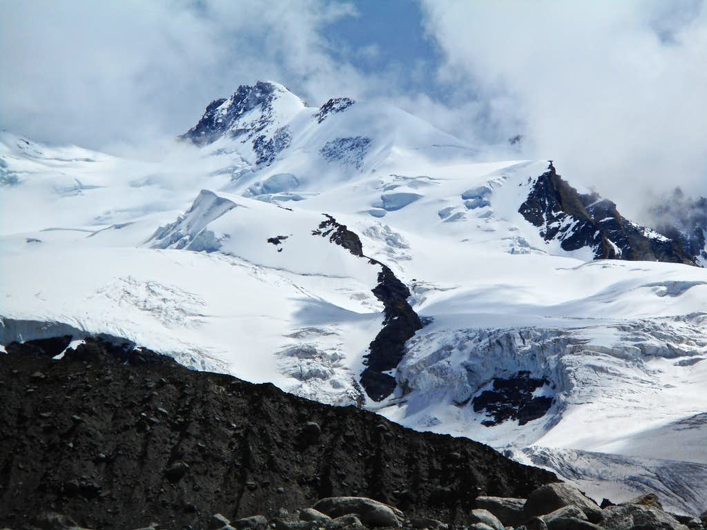 Dufourspitze from Gornergletscher