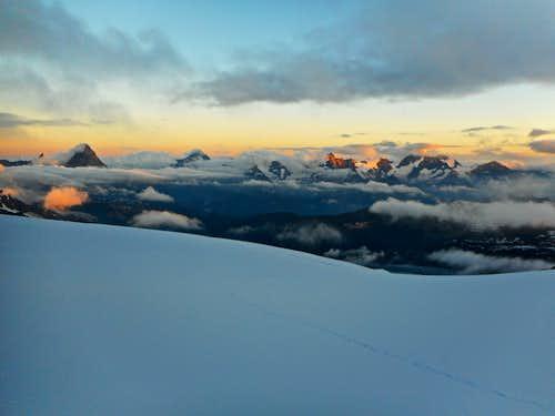Mattertal from Monte Rosa