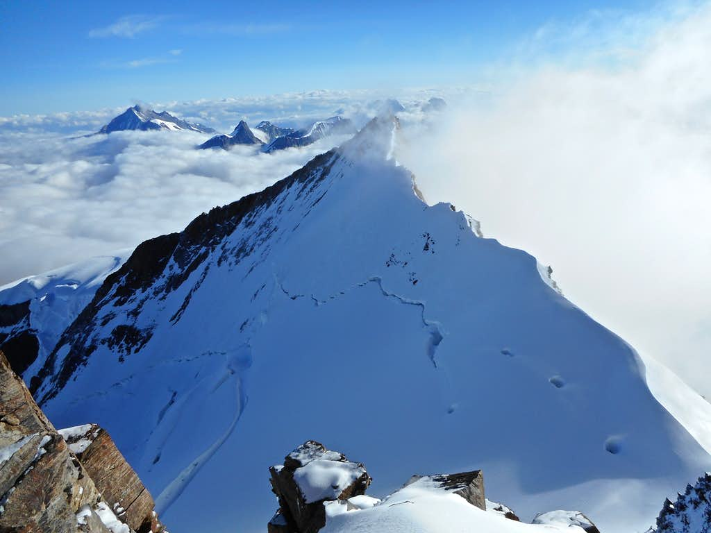 Nordend from Dufourspitze