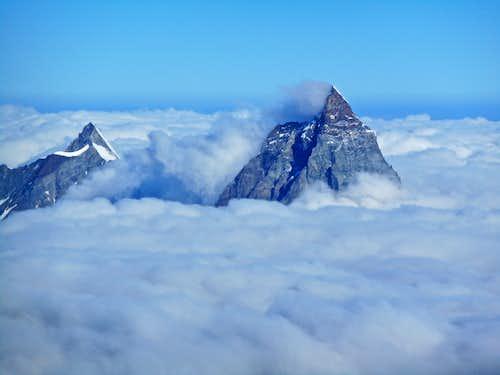 Matterhorn and Dent d'Herens