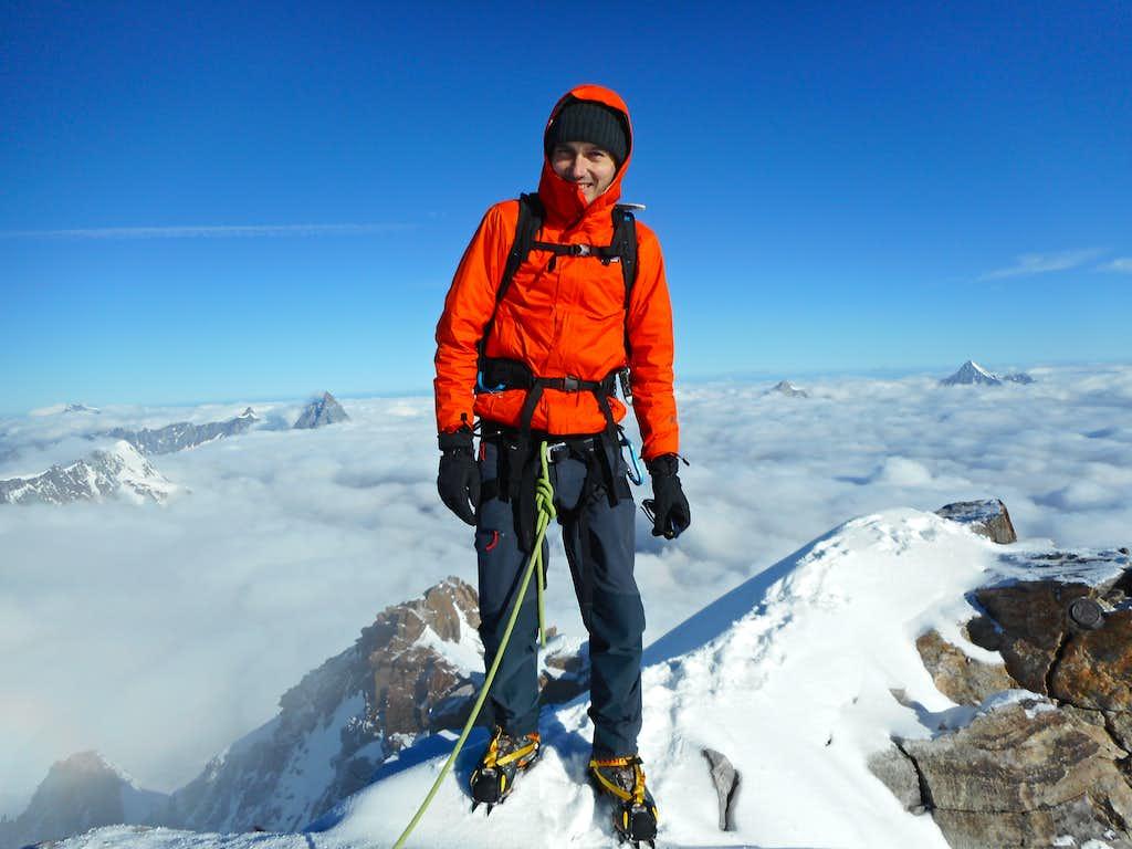 Dufourspitze summit photo
