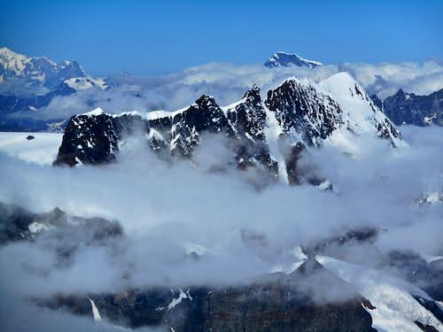 Breithorn and Grand Combin