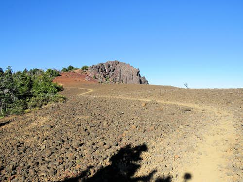 Below the summit of Black Crater
