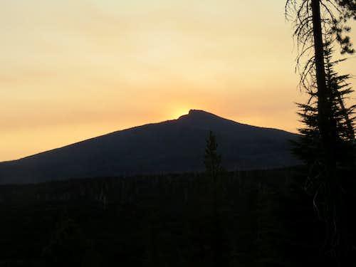 Black Crater just before sunrise