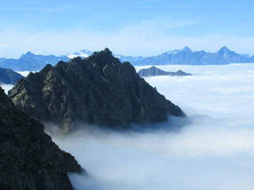 Arise out of the clouds (from Rothorn Pass)