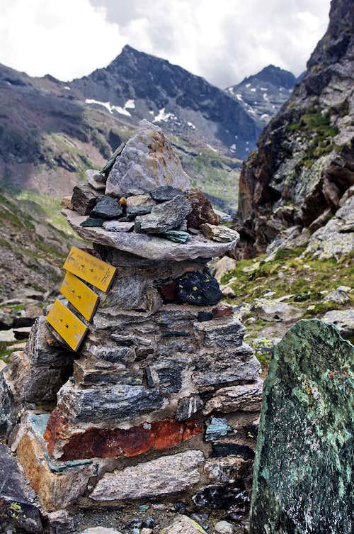 Cairn at Colle della Salza