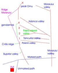 Map of the Morarului area