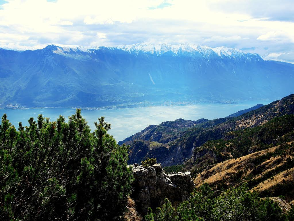 Monte Baldo and Garda Lake seen from Monte Traversole