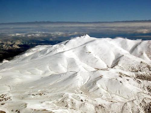 An aerial view of Mt. Grant...