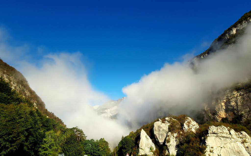 Gole del Limarò early in the autumn morning