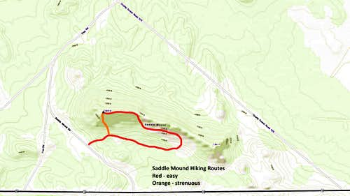Saddle Mound Routes Map