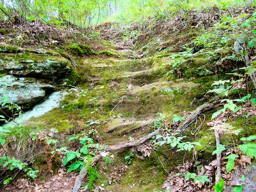 Old Rock Cut Stairs