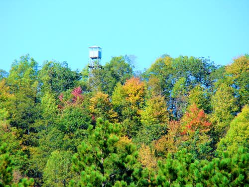 Telephoto of Saddle Mound Fire Tower