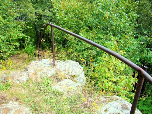 Railing in old Stone Stairway