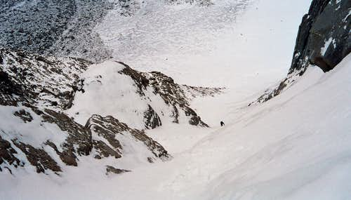 Looking Down the NE Couloir