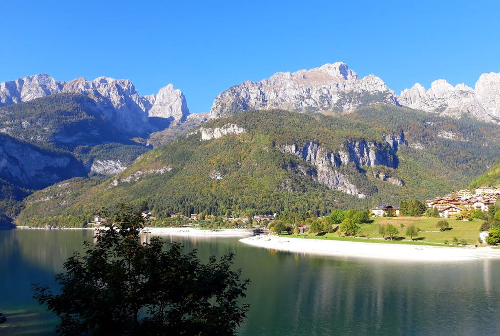 Brenta Dolomites seen from Lake of Molveno